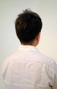 縮毛矯正リペア3ヵ月後のイメチェン刈上げショートメンズ・バック