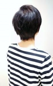 縮毛矯正ストレートロングからのスタイルチェンジ2015秋バック