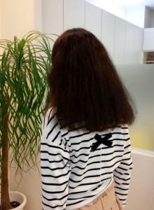 初めての縮毛矯正リペアbefore
